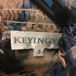 Keyingyi Dresses - Keyingyi blue and pink dress